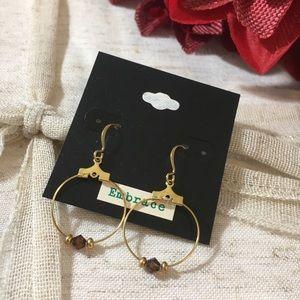 🆕 14K Gold Plated Swarovski Bead Earrings